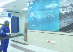 Hospital Bicentenario de Guayaquil fue desinfectado por Brigadas Municipales