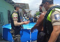 Al menos 95 piscinas fueron retiradas de Guayaquil durante operativo de carnavales 2021