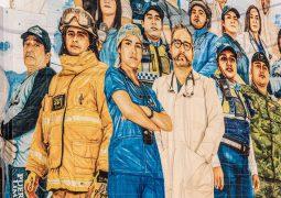 """""""Primera Línea"""" el mural que conmemora a los héroes de la pandemia en Guayaquil"""